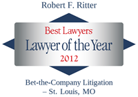 Robert Ritter Lawyer of the Year Award, 2012 Best Lawyers